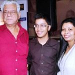 Om Puri with Ex-wife Nandita Puri and son Ishaan