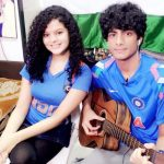 Palak Muchhal with her brother
