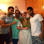 Parmish-Verma with his family (left to right) Parmish, his father, mother, and brother