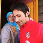 Parvez Rasool with his mother
