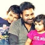 Pawan Kalyan  with his children