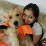 Pawni Pandey with her pet