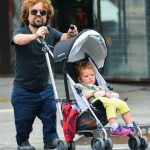 Peter Dinklage with his daughter Zelig