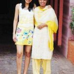 Pooja Chopra with her mother