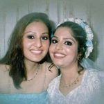 Pooja Chopra with her sister