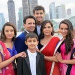 Priyanka Shah with her family