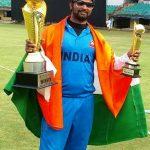 Prakash Jayaramaiah, man of the match in the Blind World Cup T20 2017