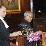 Pranab Mukherjee taking oath as 13th President of India