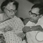 Pranab Mukhrerjee with Former Prime Minister Indira Gandhi