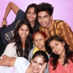 Pratima Singh with her mother and siblings