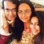 Pratyusha Banerjee with her parents