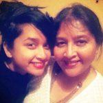 Priya Haridas with her mother