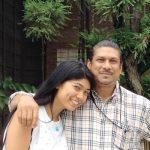 Priyanka Yoshikawa with her father