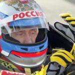 Putin driving an F1 car