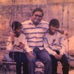 Raghu Ram childhood pic with his father and brother