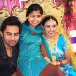 Rahul Raj with his Ex-wife Saugata Mukherjee (bride at the right)