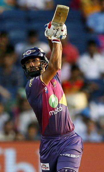 Rahul Tripathi batting