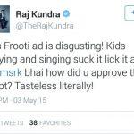 Raj Kundra tweet on Shah Rukh Khan Frooti ad