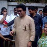 Raj Thackeray with his mother Kunda Thackeray