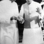 Raja Bajrang Bahadur Singh with Jawaharlal Nehru