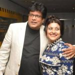 Rajesh Sharma with his wife Sangeeta Sharma