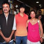 Rajkumar Hirani with his wife and son