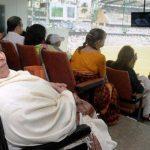 Rajni Tendulkar at Wankhede Stadium, Mumbai