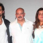 Rakesh Roshan with his son and daughter