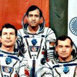Rakesh Sharma and fellow astronauts