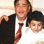 Ranbir Kapoor childhood photo with Raj Kapoor