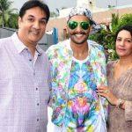 Ranveer Singh with his parents