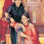 Raveena Tandon with her adopted daughters