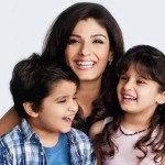 Raveena Tandon with her children