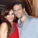 Raveena Tandon with her husband