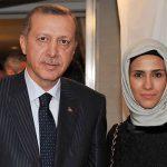 Recep Tayyip Erdoğan with his daughter