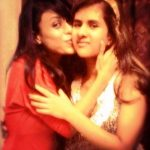 Reeth Mazumder with her sister