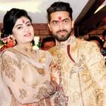 Reeva Solanki with her husband Ravindra Jadeja