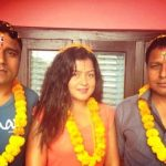 Rekha Thapa with her brothers