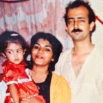 Rhea Chakraborty Childhood Picture with her Parents