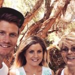 Richie Strahan with his mother and sister