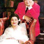 Krishna Kapoor with her husband Raj Kapoor