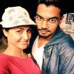 Rocky Jaiswal with Hina Khan