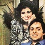 Vinod Mehra with his wife Kiran Mehra