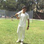 Rohan Mehra playing cricket