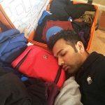 Rohit Sharma sleeping