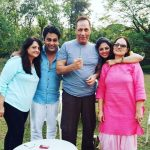 Ronnit Biswas with his parents and Kavita Kaushik
