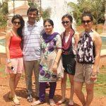 Rubina Dilaik with her family