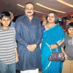 Sachin Khedekar with his wife and children