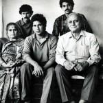 Ajit Tendulkar with his family