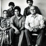 Rajni Tendulkar with her husband and children